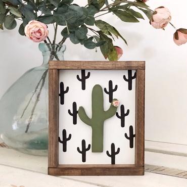 Cactus Wood Sign
