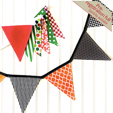 Holiday Fabric Bunting Banners