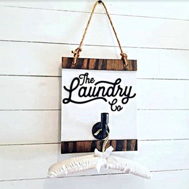 DIY Laundry Co. Pipe Sign