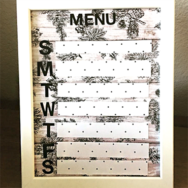 Menu Planner Board Craft