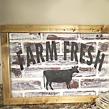 Fresh Farm- German Smear Brick Art