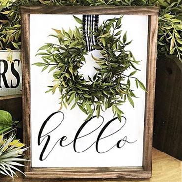 Fancy Wreath Sign
