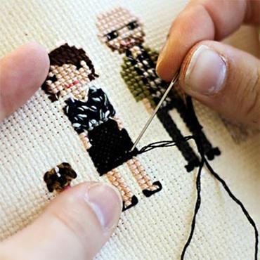 Design Your Own Cross-Stitch Portraits