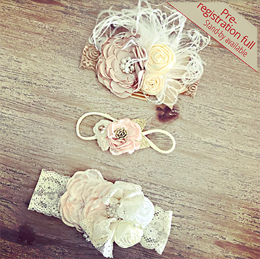 Vintage Shabby Headbands for your Littles