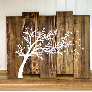 DIY Tree Sillouette Design Sign