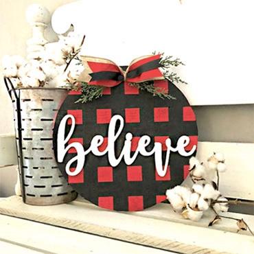 Buffalo Plaid Christmas Sign