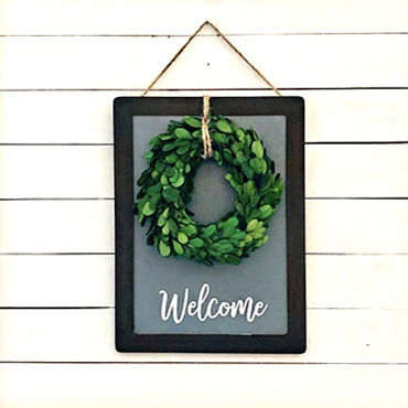 Welcome Wreath Sign