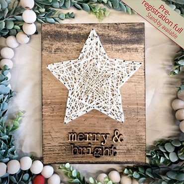 Merry & Bright String Art