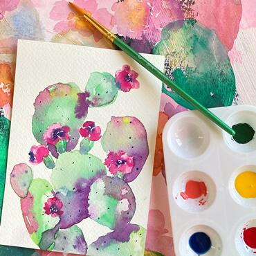 Watercolor Prickly Pear
