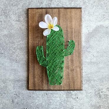 Saguaro Cactus String Art