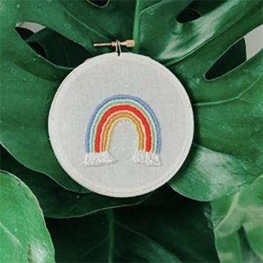 Happy Days Rainbow Embroidery