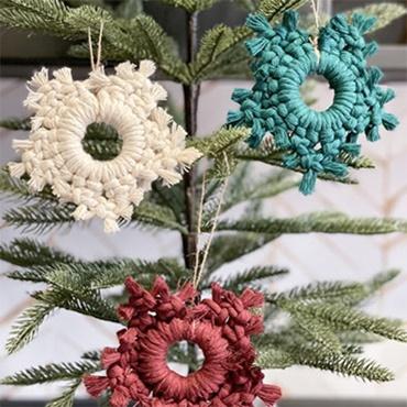 Macramé Snowflake Ornaments