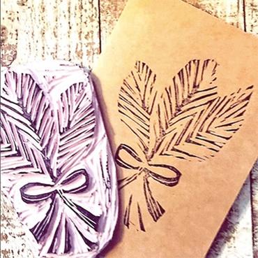 Flourish Ink Stamp Carving