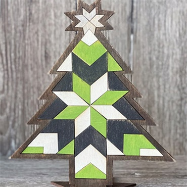 Wooden Christmas Tree Quilt