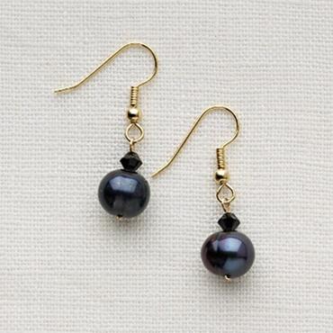 Sigle or Double Drop Pearl Earings