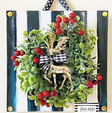 """""""Oh Deer"""" Designer Inspired Christmas Decor"""